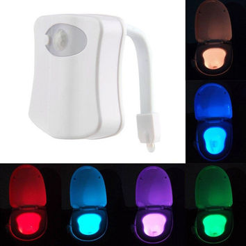 Hot Sale Led Motion Activated Toliet Night Light Great Gifts