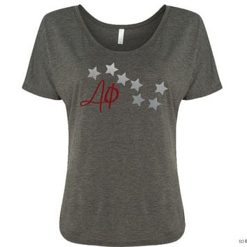 Alpha Phi Constellation Flowy Sorority Tee Tshirt