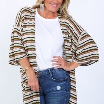Erin Multi Striped Cardigan | S-XL