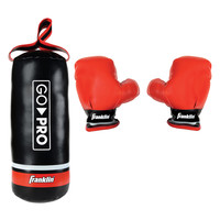 Franklin Sports Go Pro Youth Punching Bag and Glove Set