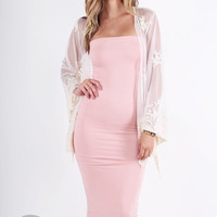 Spandex Tube Dress - Dusty Pink @ LushFox.com :: Current Fashion Trends & Styles