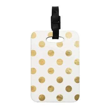 "KESS Original ""Scattered Gold"" Decorative Luggage Tag"
