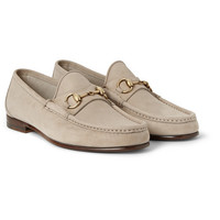 Gucci - Horsebit Brushed-Leather Loafers | MR PORTER