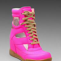 Marc by Marc Jacobs Neon Cut Out Wedge Sneaker in Pink from REVOLVEclothing.com
