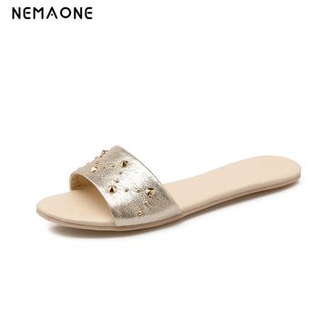 NEMAONE New 2017 women flip flops Beach sandals fashion Bling slippers summer women fl