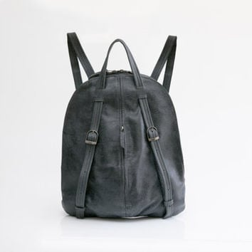 Charcoal Gray leather Backpack - Women Backpack Purse - Handmad Leather Tote Bag - Grey Leather Bag - Laptop Bag - Perfect gift for Her