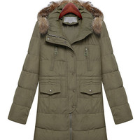 Hooded Military Padded Jacket
