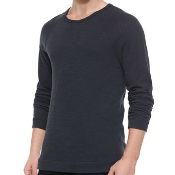 Raglan-Sleeve Knit T-Shirt,