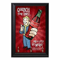 Fallout Vault Boy Nuka Cola Geeky Wall Plaque Key Hanger