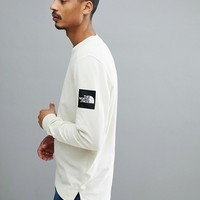 The North Face Fine 2 Long Sleeve Top In Off White at asos.com