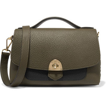 Mallet & Co - Basil two-tone textured-leather shoulder bag