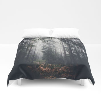 Dark paths Duvet Cover by HappyMelvin