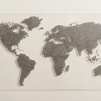 Crystal Map of the World on Transparent  Acrylic