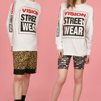 CHLOE SEVIGNY FOR OPENING CEREMONY VISION VSW SCREENED LONG-SLEEVE TEE - MEN - VISION STREET WEAR - CHLOE SEVIGNY FOR OPENING CEREMONY