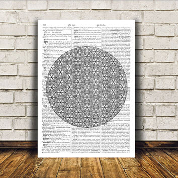 Mandala art Sacred Geometry poster New Age print Wall decor RTA367
