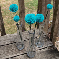 Fluffy Teal Green Dandelions Wedding Decoration by sugarpopparty