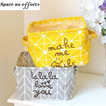 Laundry Basket Yellow Dirty Clothes Storage Basket 20*16*13cm Linen Toys Basket For Kid Basket Laundry Hamper Home Organizer