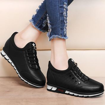 Hot Sale Spring/Autumn Women's PU Travel Shoes Ladies Flat Shoes Comfortable Casual flats