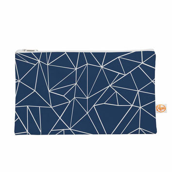 """Project M """"Abstraction Outline Navy"""" Blue Abstract Everything Bag"""