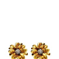 Pave Flower Stud Earring
