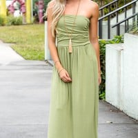 Last Look Strapless Sage Green Maxi Dress Shop Simply Me Boutique SMB – Simply Me Boutique