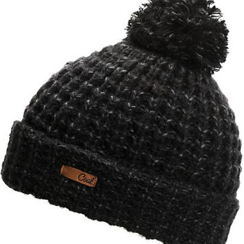 Coal Women's Kate Black Pom Fold Beanie