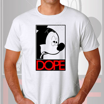 Mickey Mouse Dope T-shirt T-shirts Dope T-shirt T-shirts Disney Minnie Mouse Cartoon Smoking Cute Funny Hoodie Hoodies Tank Tops Sweatshirt