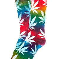 The Tie Dye Plantlife Crew Socks in Multi