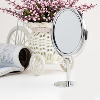 Mini Dual Side Normal Magnifying Oval Stand Mirror 3 inch Make Up Cosmetic Mirror for Lady Girl SM6