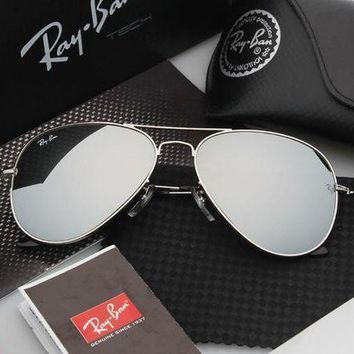 PEAPGE2 Beauty Ticks Ray Ban Aviator Sunglass Silver Mirrored Polarized Rb 3025 019/w3