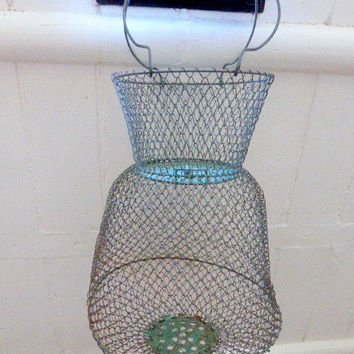 Vintage French Fishing, Snail Collecting Basket