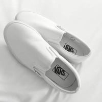Vans Slip-On Old Skool Classic Fashion Women Men Casual Canvas Sneakers Sport Shoes White