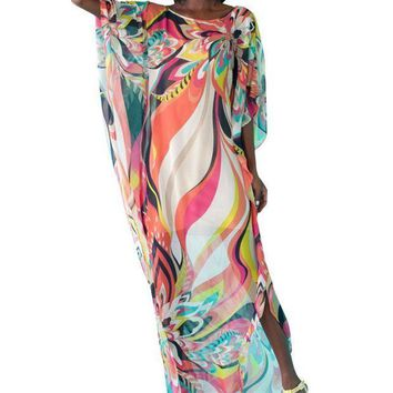 MDIG57D 2017 Women Sexy Beach Wear Chiffon Pareo Kaftan Bathing Suit Sarongs Bikini Swimming Cover Up One Size