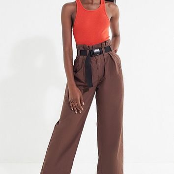 UO Sienna Belted Paperbag Pant | Urban Outfitters