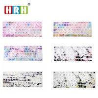 HRH Marble Design Silicone Keyboard Cover Skin Protector Protective Film for Apple Macbook Air Pro Retina 13 15 17 US Layout