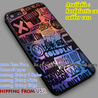 All Band Logo Nebula  iPhone 6s 6 6s+ 5c 5s Cases Samsung Galaxy s5 s6 Edge+ NOTE 5 4 3 #music #5sos #nvn #fob #1975 dl5