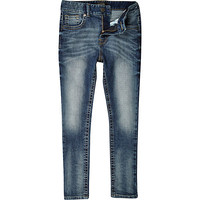 River Island Boys blue medium wash skinny sid jeans