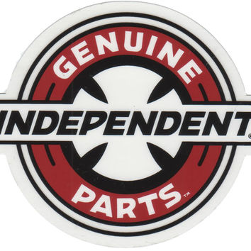 Indy Cross Circle Logo Sticker
