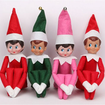 37cm Newest Christmas Doll The Elf On The Shelf Christmas Tradition Kids Plush Toys For Christmas Gift