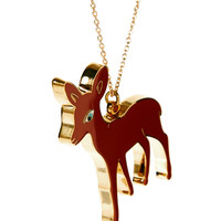 Rosie Wonders Bambi Necklace at asos.com