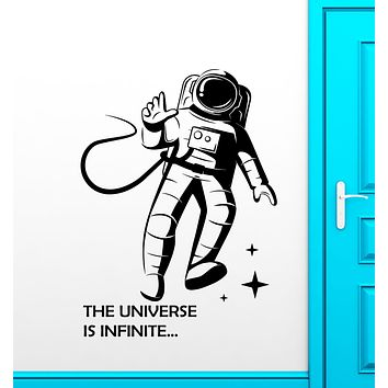 Vinyl Wall Decal Astronaut Spaceman Space Suit Quote Stickers (3149ig)