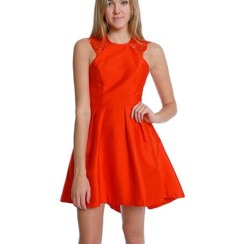 Twilight Skater Dress - Red Lace