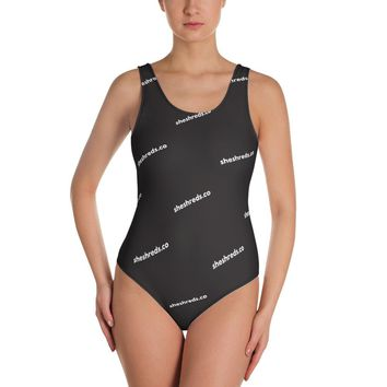Colleen One-Piece Swimsuit - SheShreds Graphic Black