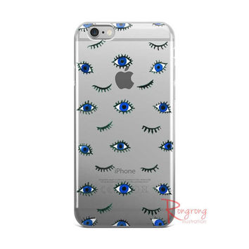 Evil Eyes IPhone case,Cute IPhone 6 case, fashion IPhone Case,Pattern IPhone Case Clear,Clear IPhone6 Plus Case,Gift for her