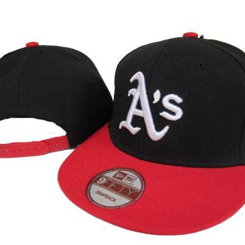 Oakland Athletics New Era MLB 9FIFTY Cap Black-Red