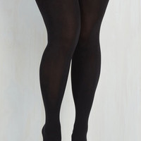 Pinup Suspends Thriller Tights - Extended Size Size XL by Pretty Polly from ModCloth