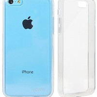LUVVITT® CLEARVIEW Slim Clear Back Case with Bumper / Cover for iPhone 5C (LIFETIME WARRANTY | Retail Packaging) - Crystal Clear