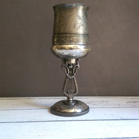 Reed and Barton Musician Silver Plate Chalice/ Reed and Barton Antique Cup/ Silver Plate Goblet/ Antique Silver Plate Goblet