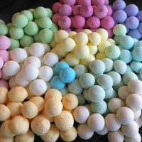Assorted Box of 10 -ONLY ONE DOLLAR Each- Bath Candy (bath bomb) for your Tub with Vitamin E, Aloe Vera, Epsom