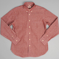 SH1-003 - SELVEDGE CHAMBRAY BUTTON-DOWN SHIRT, RED :: HICKOREE'S